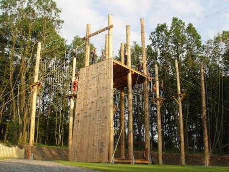 adventurepark klimwand camping Fuussekaul
