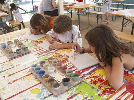 animatie schilderen camping Valldaro