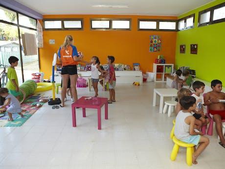 animatie kinderspeelhal camping Valldaro
