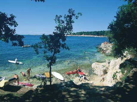 strand camping Bijela Uvala