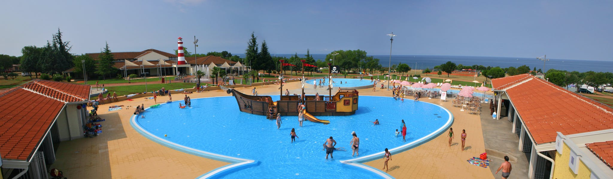 zwembad piratenschip camping Park Umag