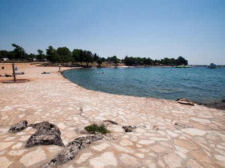 strand bij camping Park Umag