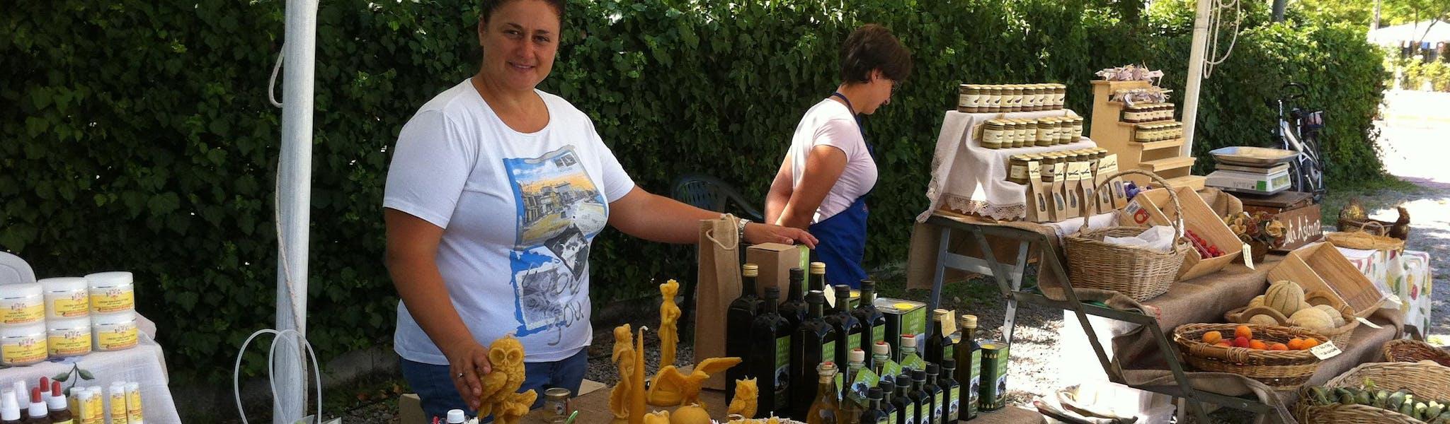 Markt op camping Parco delle Piscine