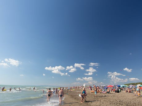 Strand aan zee camping International Etruria