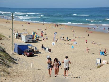 Strand bij Camping le Vieux Port