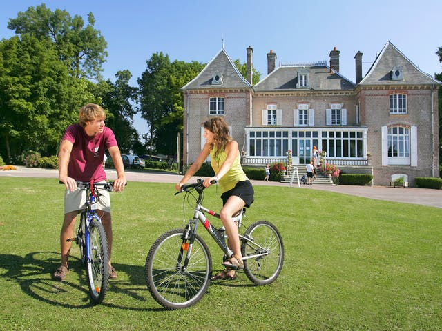 Fietsers camping Chateau de Drancourt