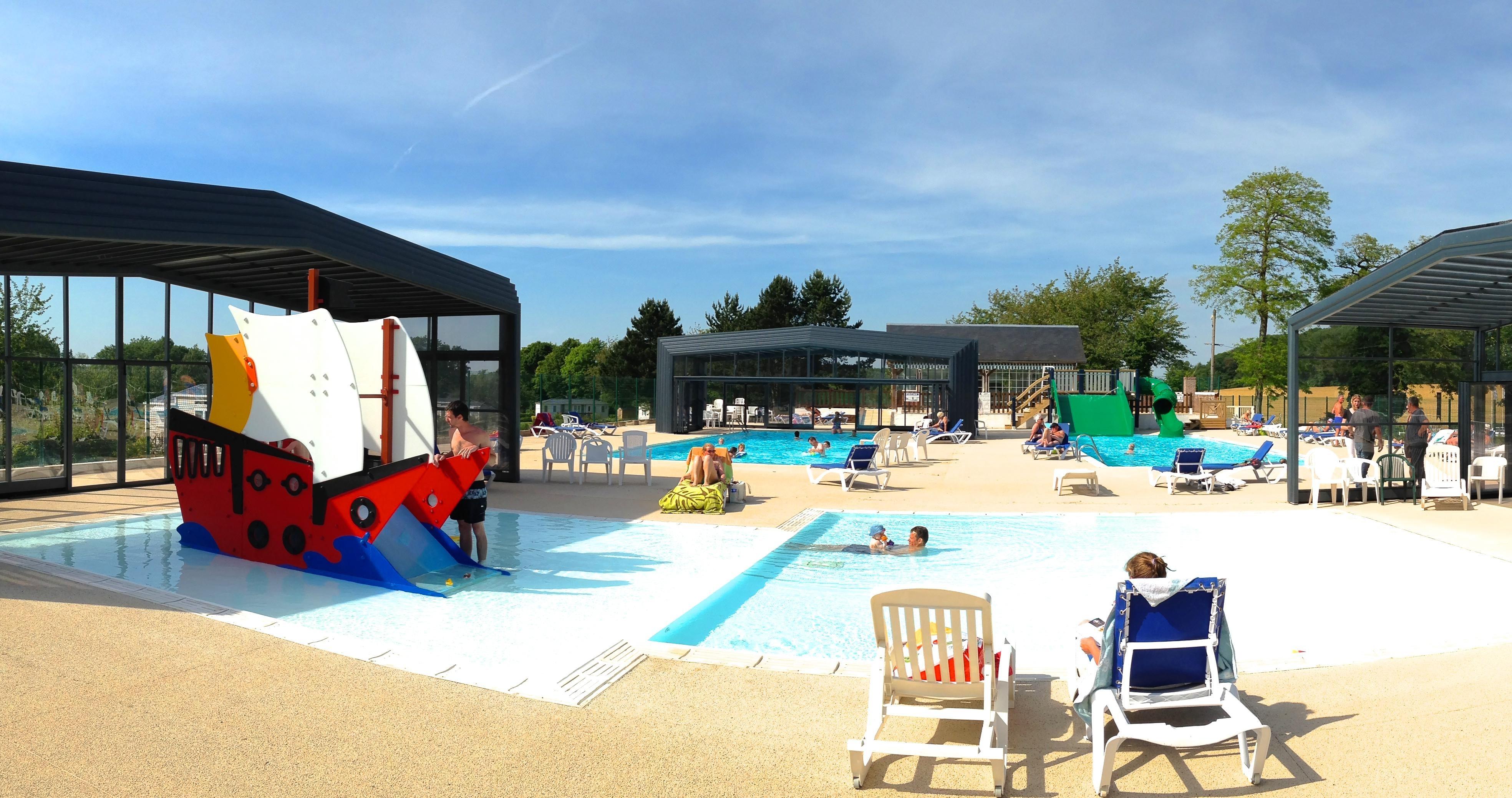 Kinderbad camping Chateau de Drancourt