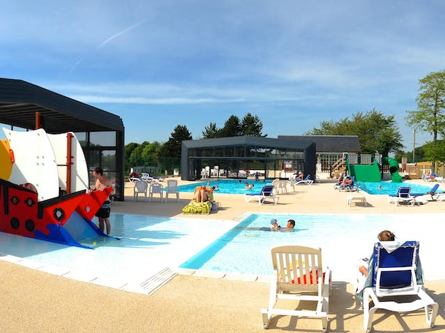 Kinderbad camping Chateau de Drancourt