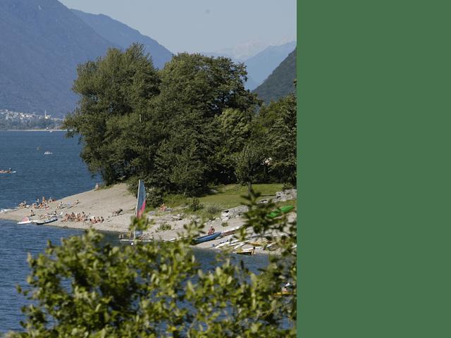 omgeving aan meer camping Rio Vantone