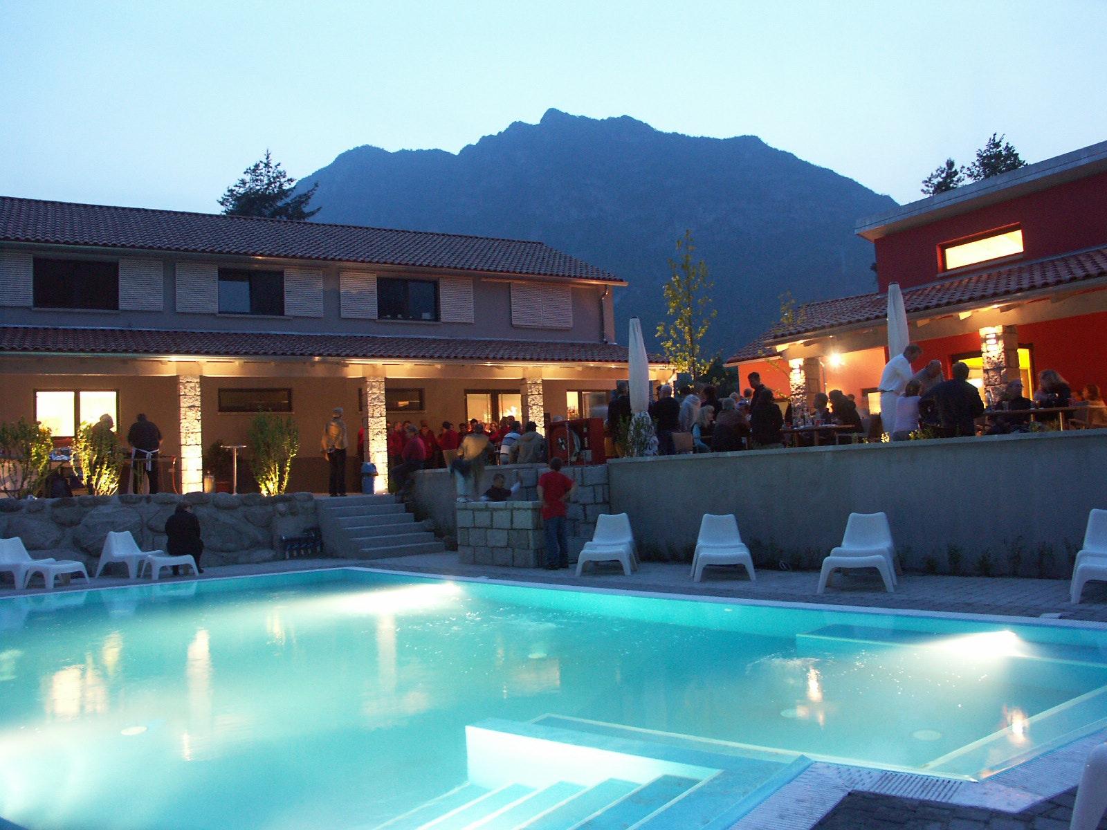 zwembad camping Rio Vantone