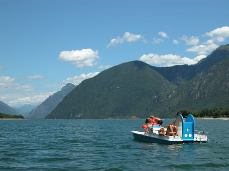 Waterfietsen bij camping Rio Vantone