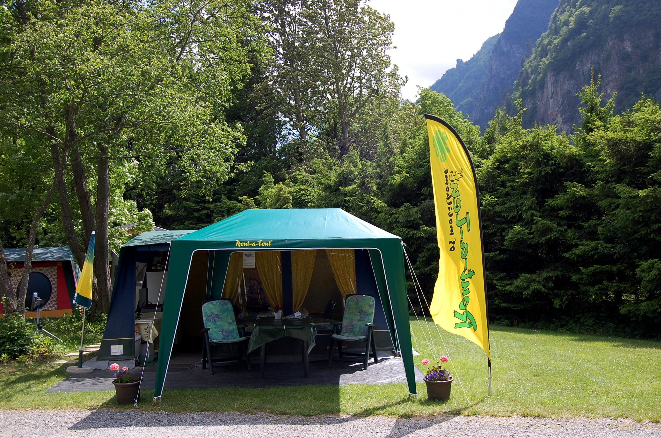 receptietent camping Belledonne