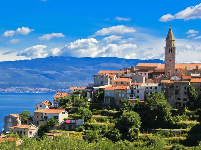 Zee en landschap Kroatië