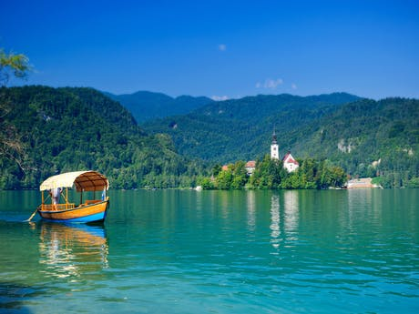 Meer van Bled in Slovenië