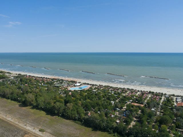 Overzicht zee camping Spiaggia e Mare