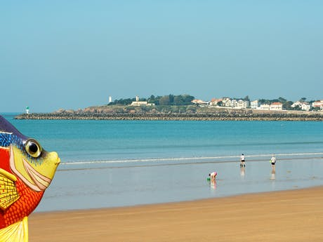Strand aan de Franse westkust