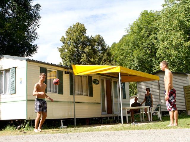 stacaravan Lime camping Domaine de Châlain
