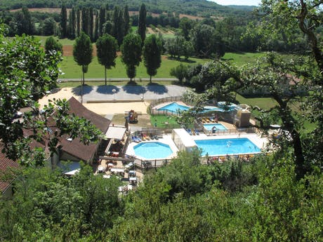 zwembad camping Le Moulin de Paulhiac