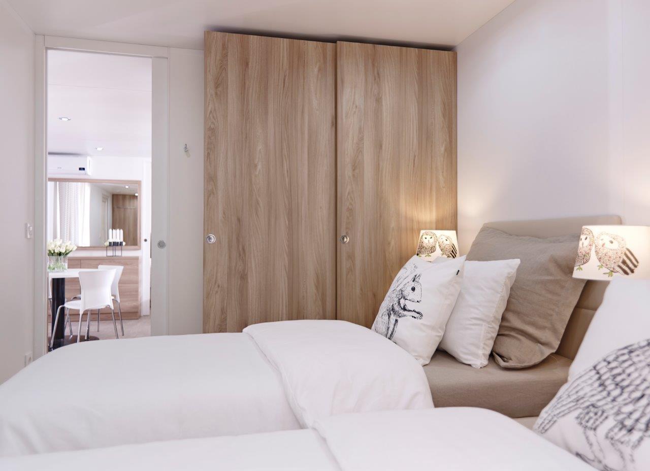 Voorbeeld stacaravan Mango Premium slaapkamer