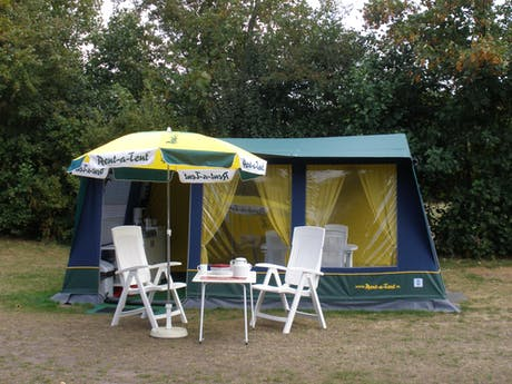 Bungalowtent Blue opstelling