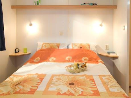 Voorbeeld interieur slaapkamer Stacaravan Lim