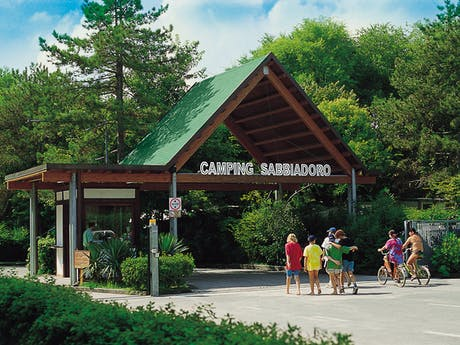 Entree camping Sabbiadoro
