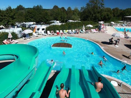 Waterglijbaan camping Fayolan