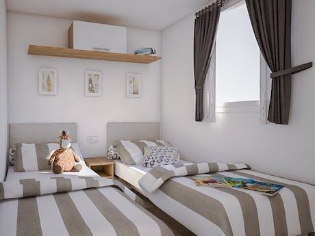 Stacaravan Mango Premium slaapkamer interieur
