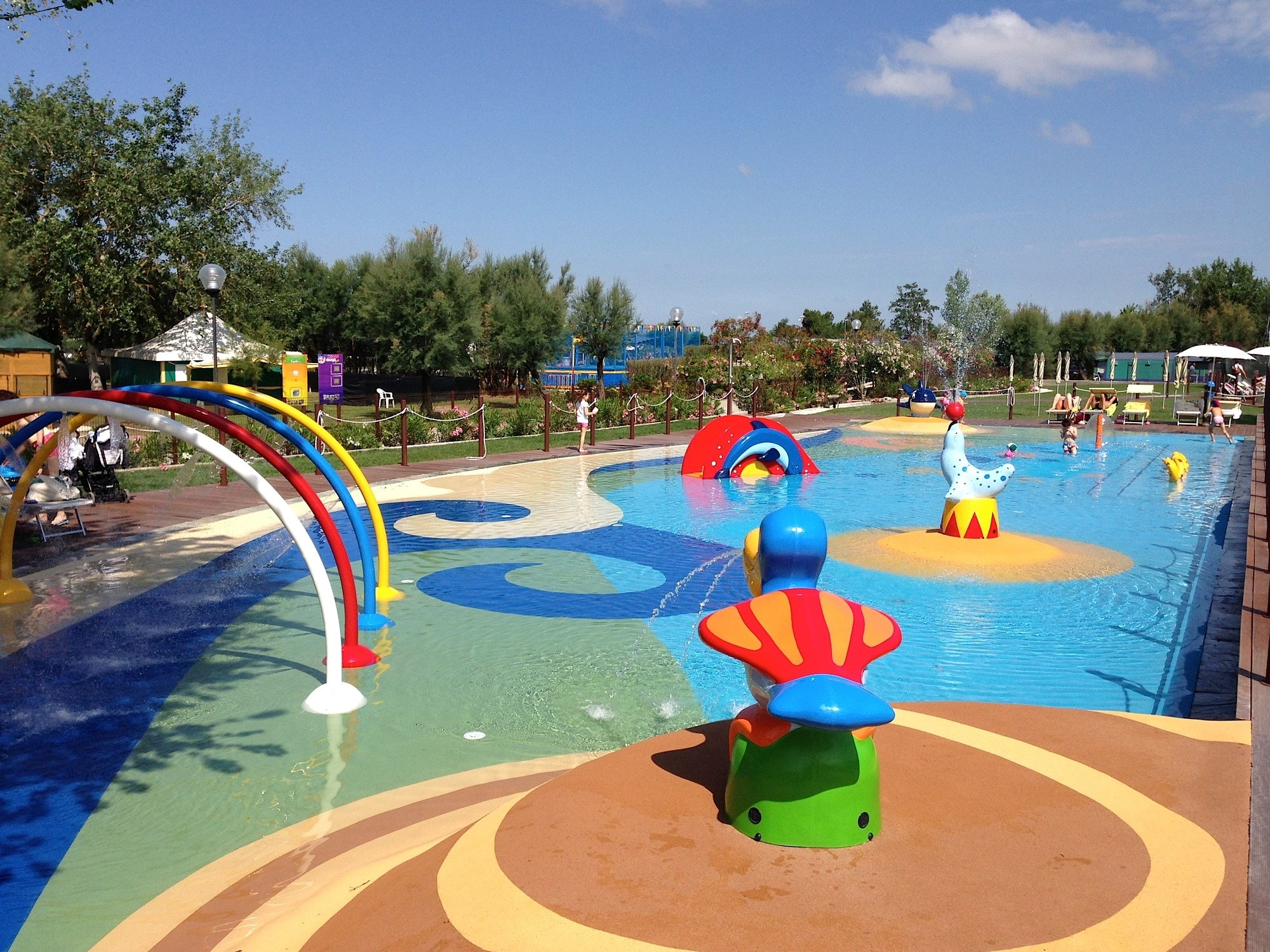 Waterspeeltuin op Spina camping Village