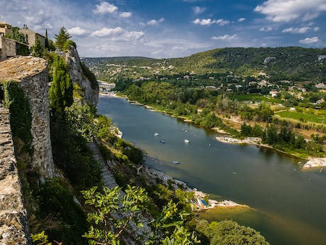 Aigues Ardeche canyon kloof