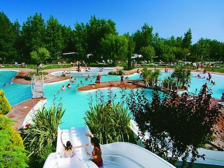 Camping Serignan Plage waterparadijs zwembad