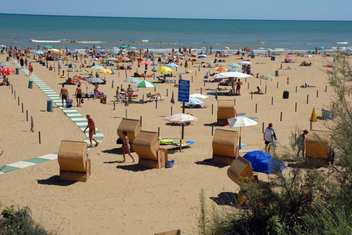Strand bij camping Sabbiadoro