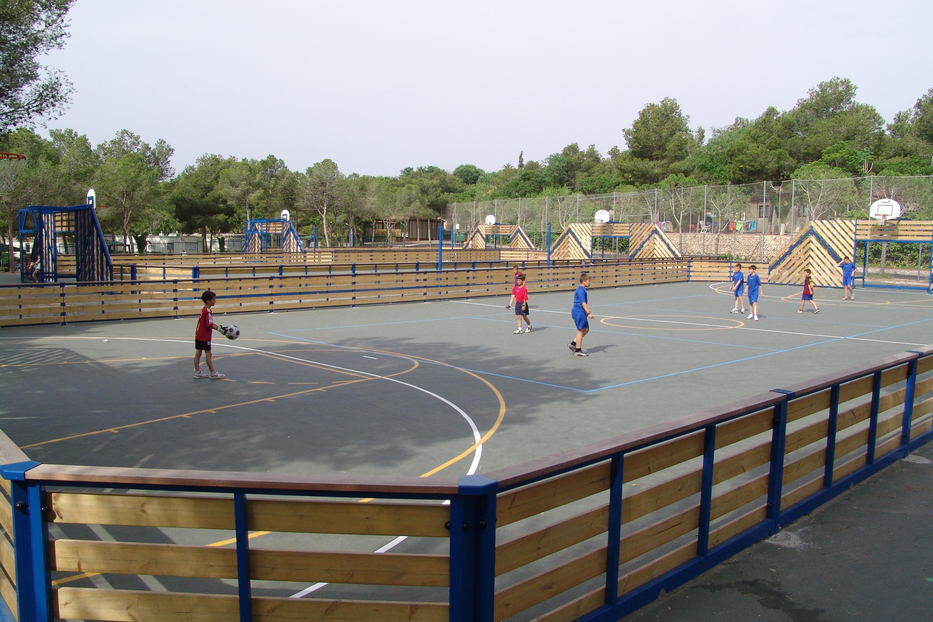 Straatvoetbal veld Vilanova Park