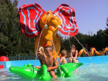 Spelende kinderen zwembad Fuussekaul