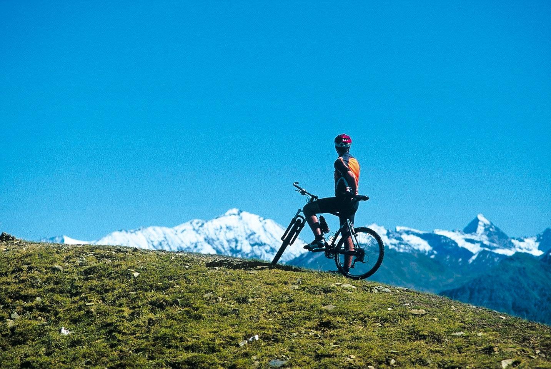 Mountanbiken bij bergen Woferlgut