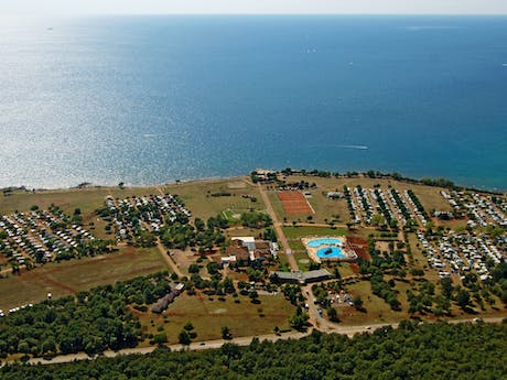 Camping park Umag vanuit lucht