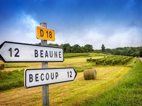 route in de Bourgogne