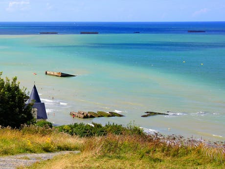 D-day strand te Arromanches les Bains