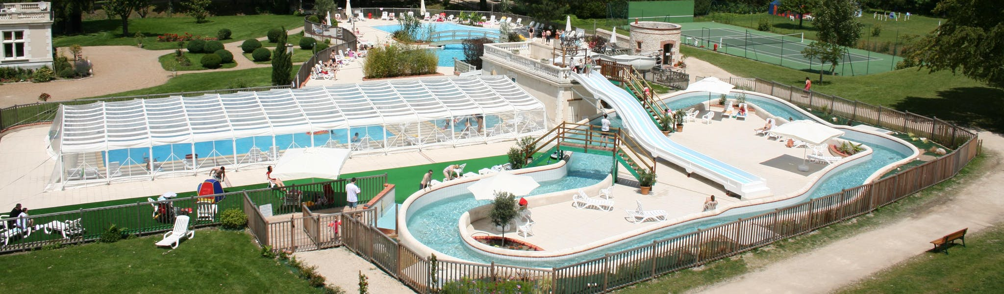 chteau-des-marais zwembad overzicht