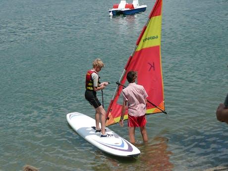 Leren windsurfen camping Rio Vantone