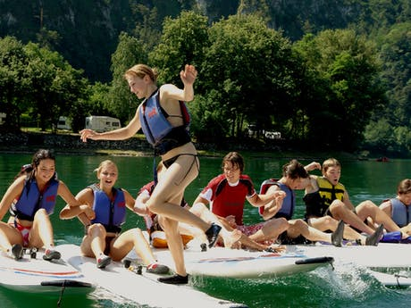Plezier bij surfschool camping Rio Vantone