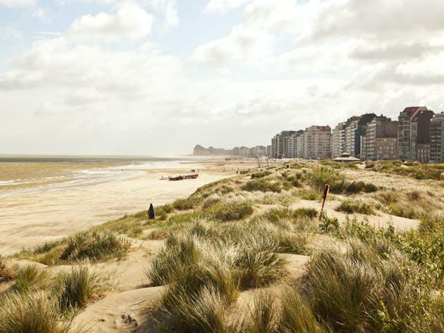 Knokke kustlijn Belgie