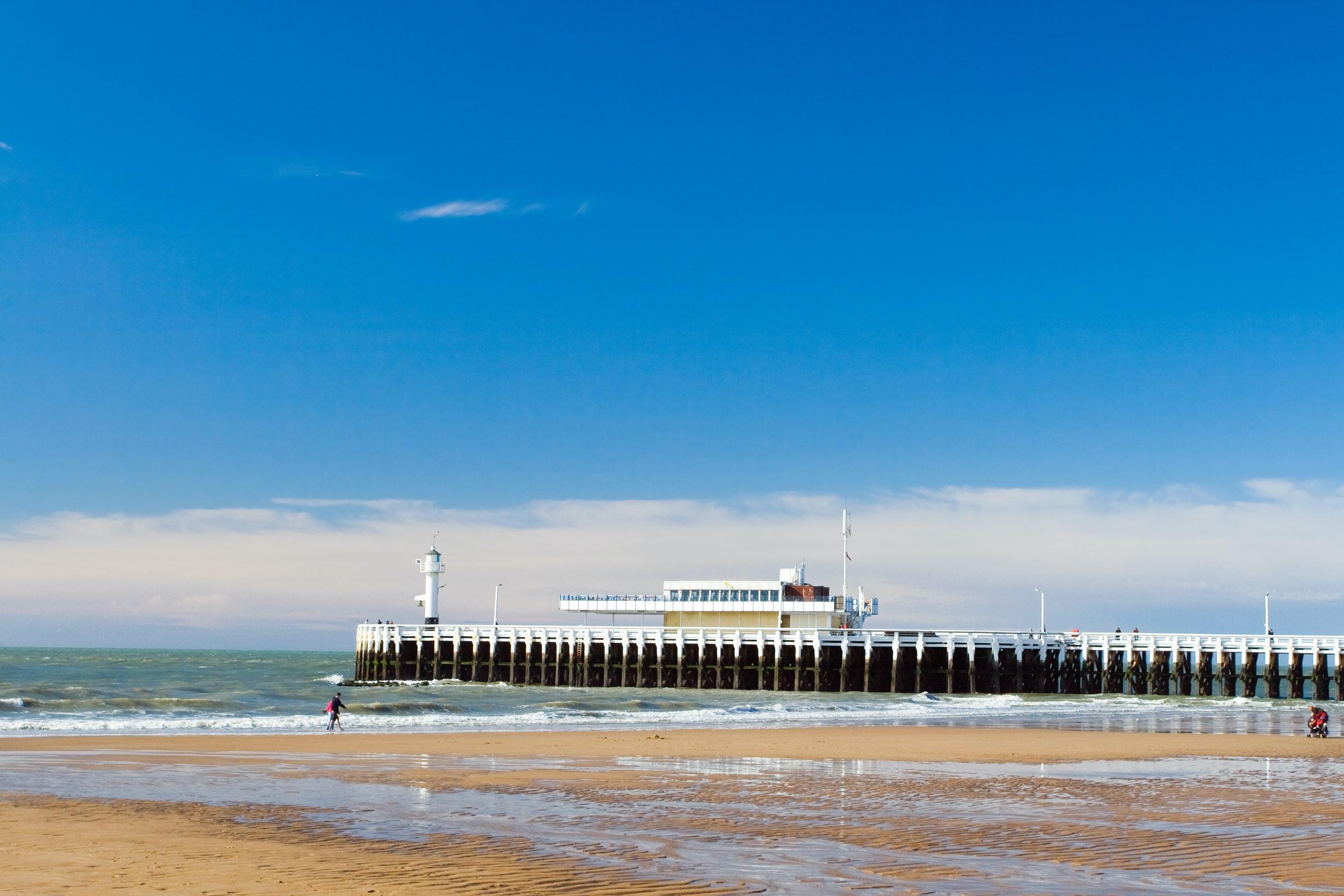 Oostende Belgie zee