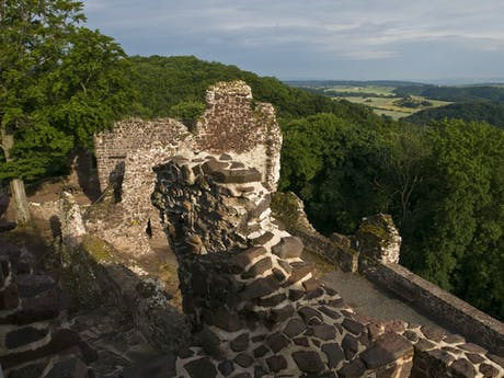 Ruine Hohnstein 9 daagse thuringer becken
