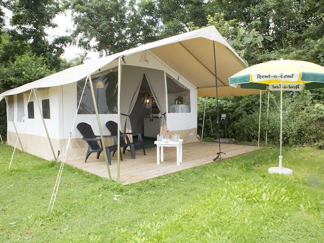 Safaritent Caramel met vlonder