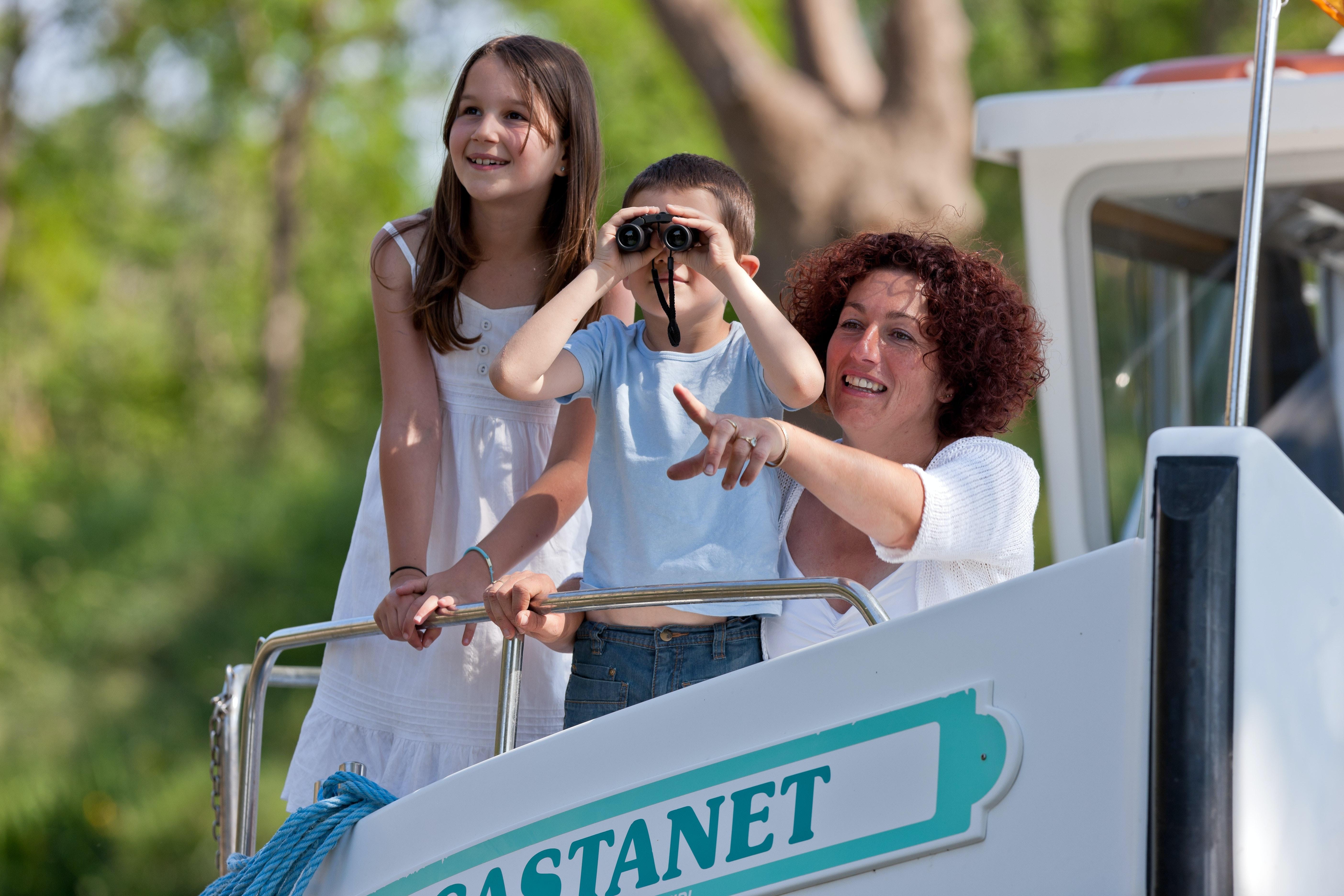 Locaboot vaargebied Camargue met familie