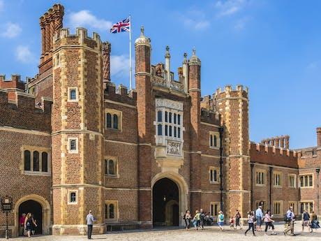 Hampton Court Palace vaar engeland