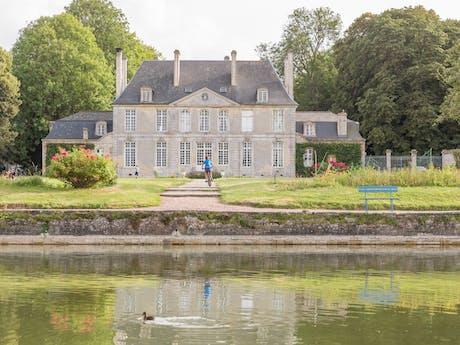 Het kasteel van camping Chateau de Martragny