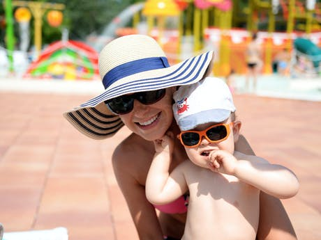 Camping Spiaggia e Mare moeder zoon