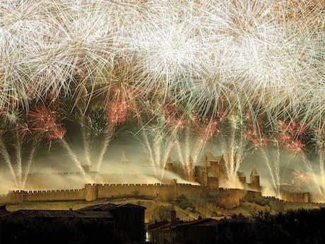 Carcassonne 14 juli vuurwerk canal du midi